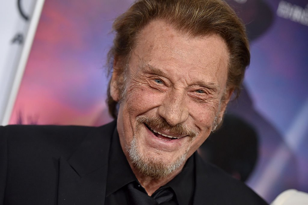 Johnny Hallyday tout souriant. | Photo : Getty Images