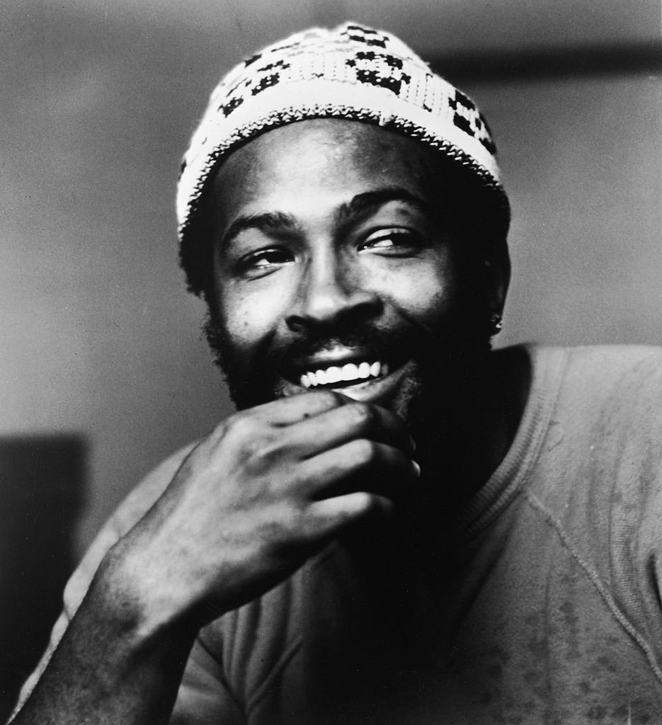 Headshot of American soul singer Marvin Gaye (1939 - 1984), wearing a knit cap, 1977. | Source: Getty Images