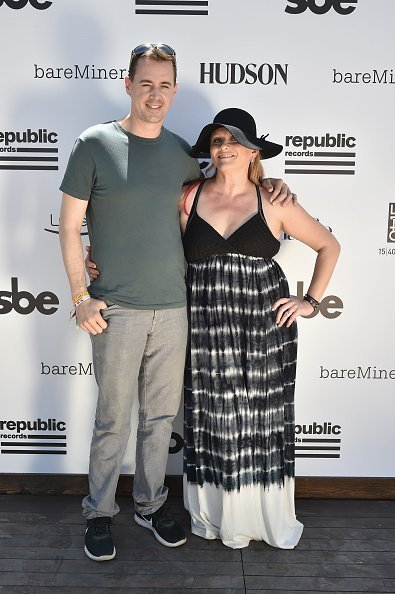 Actor Sean Murray and Carrie James attend The Hyde Away, hosted by Republic Records & SBE, presented by Hudson and bareMinerals during Coachella on April 15, 2017, in Thermal, California. | Source: Getty Images.