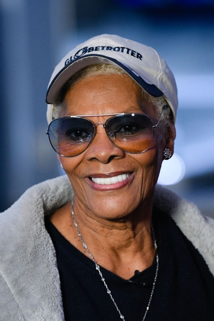 """Dionne Warwick visits """"Extra"""" at Burbank Studios on December 02, 2019 in Burbank, California 