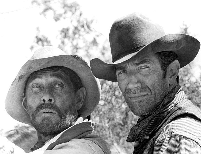 "Photo of Ken Curtis as Festus Hagen and guest star Joseph Campanella from ""Gunsmoke,"" September 13, 1968. 