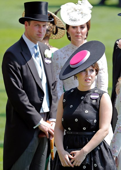 Prince William, Kate Middleton, and Princess Eugenie at Ascot Racecourse on June 20, 2017 in Ascot, England. | Photo: Getty Images