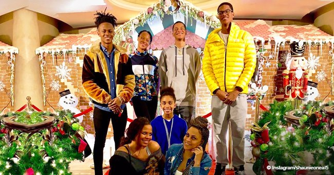 Shaunie O'Neal shares holiday photo with all her kids after son Shareef underwent heart surgery