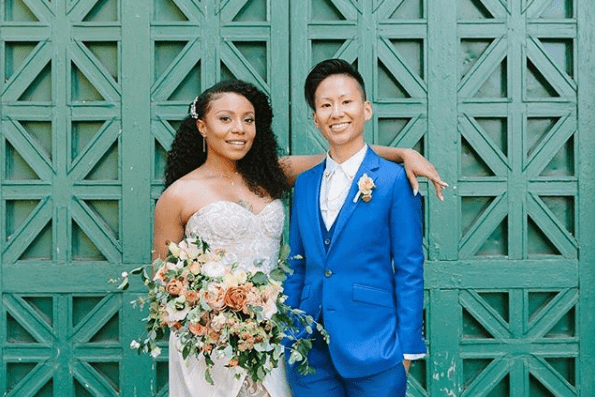 Shalita Grant and her wife Sabrina Skau on their wedding day. I Image: Instagram/ shalitagrant