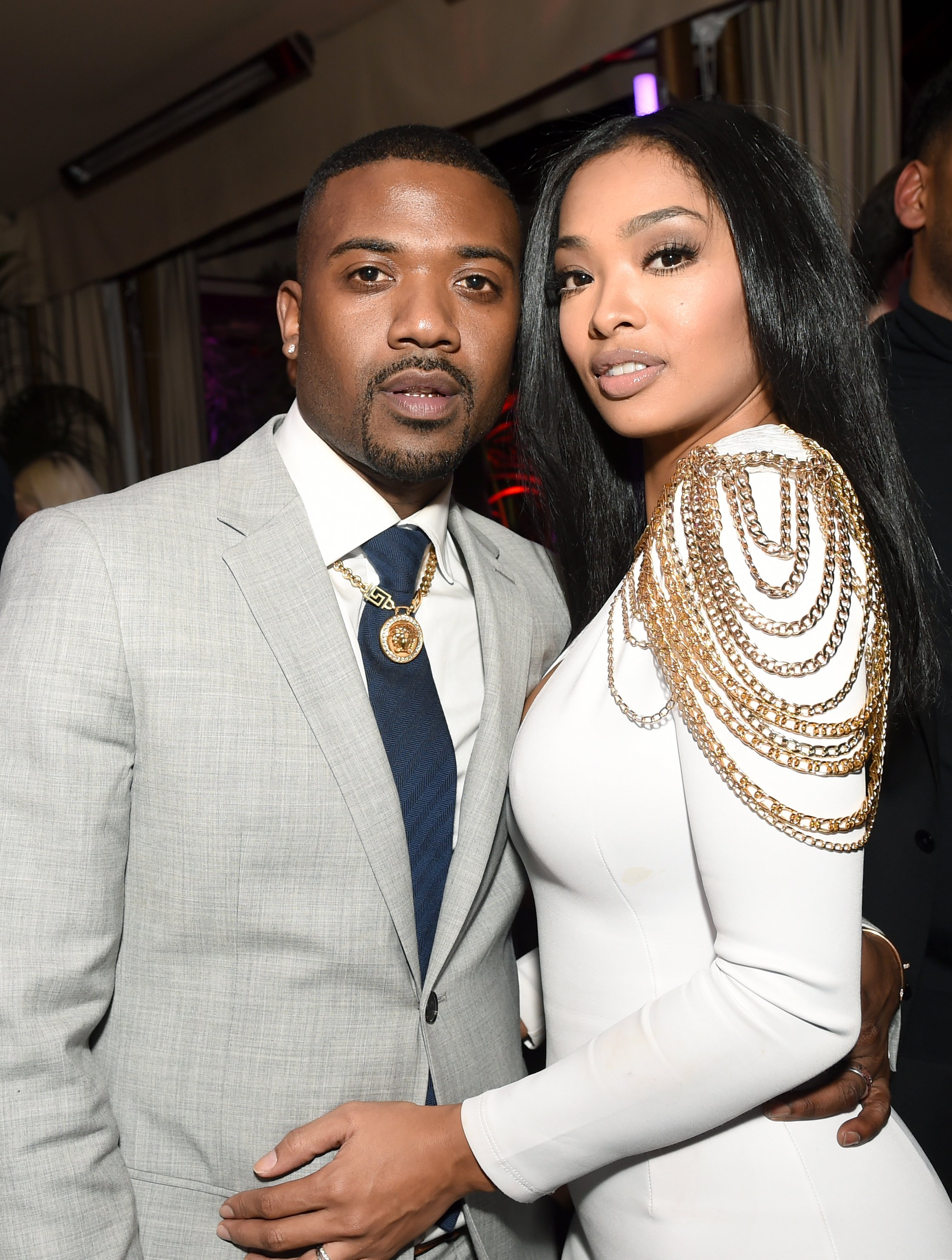 Ray J and Princess Love at a GQ-sponsored Grammy event on February 2017. | Source: Getty Images