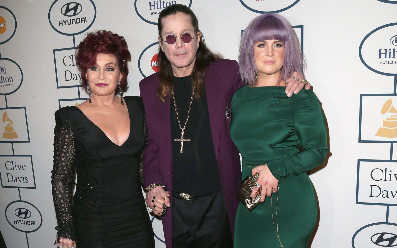 haron Osbourne, Kelly Osbourne, and Ozzy Osbourne attend the 56th annual GRAMMY Awards Pre-GRAMMY Gala on January 25, 2014. | Source: Getty Images