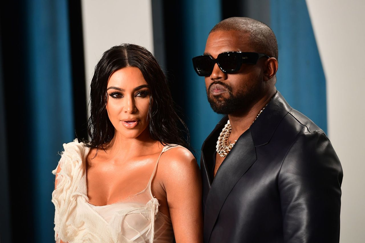 Kim Kardashian and Kanye West at the Vanity Fair Oscar Party in Beverly Hills, Los Angeles, California, USA. | Source: Getty Images