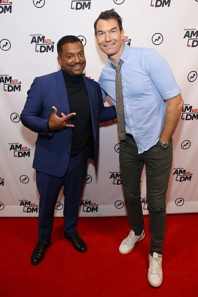 "Alfonso Ribeiro and Jerry O'Connell visit BuzzFeed's ""AM To DM"" in New York City. 