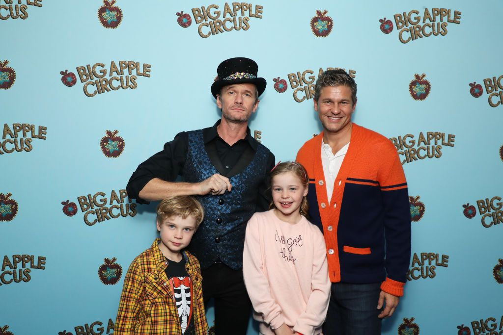 Neil Patrick Harris and David Burtka at the Opening Night of Big Apple Circus with their children, Gideon and Harper in 2019 in New York City | Source: Getty Images