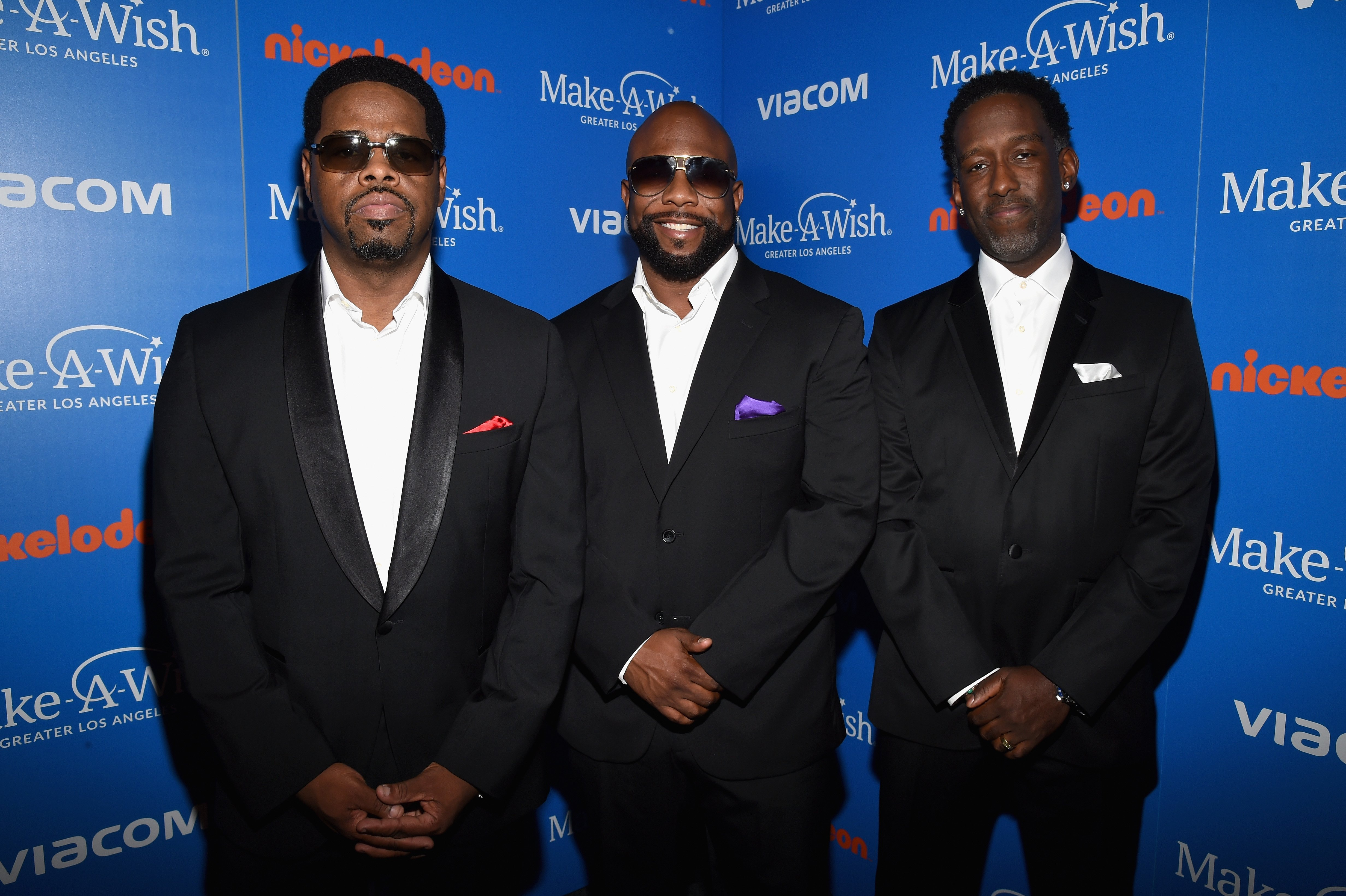 Nathan Morris, Wanya Morris and Shawn Stockman of the group Boyz II Men attend the 2018 Make A Wish Gala at The Beverly Hilton Hotel on October 24, 2018, in Beverly Hills, California. | Source: Getty Images.