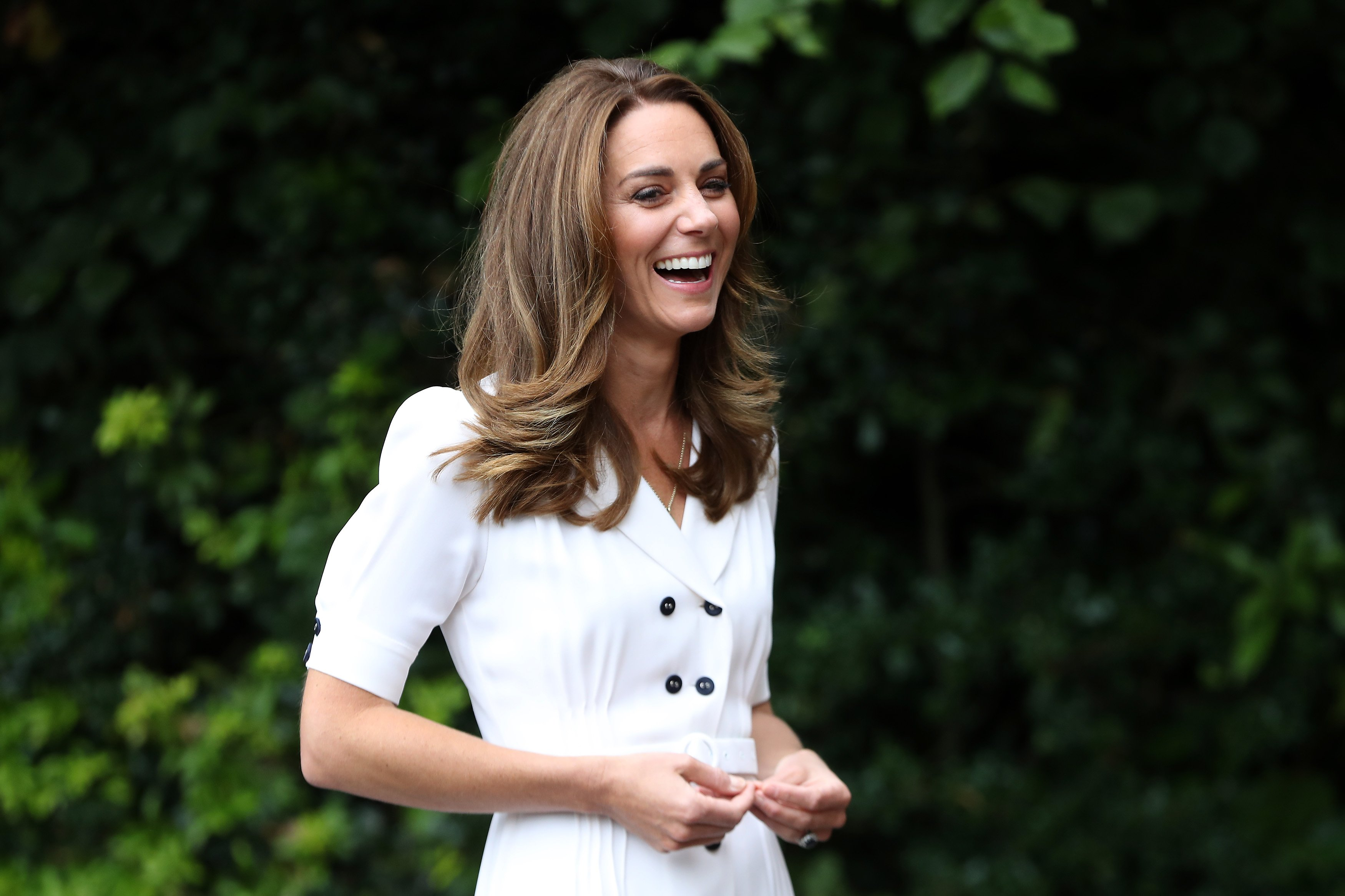 Kate Middleton visits the Baby Basic UK & Baby Basics Sheffield in England on August 4, 2020 | Photo: Getty Images