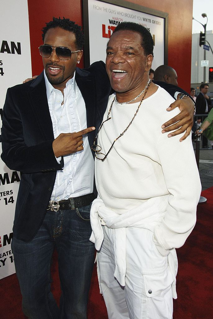 """Shawn Wayans and John Witherspoon at the premiere of """"Little Man"""" in July 2006. 