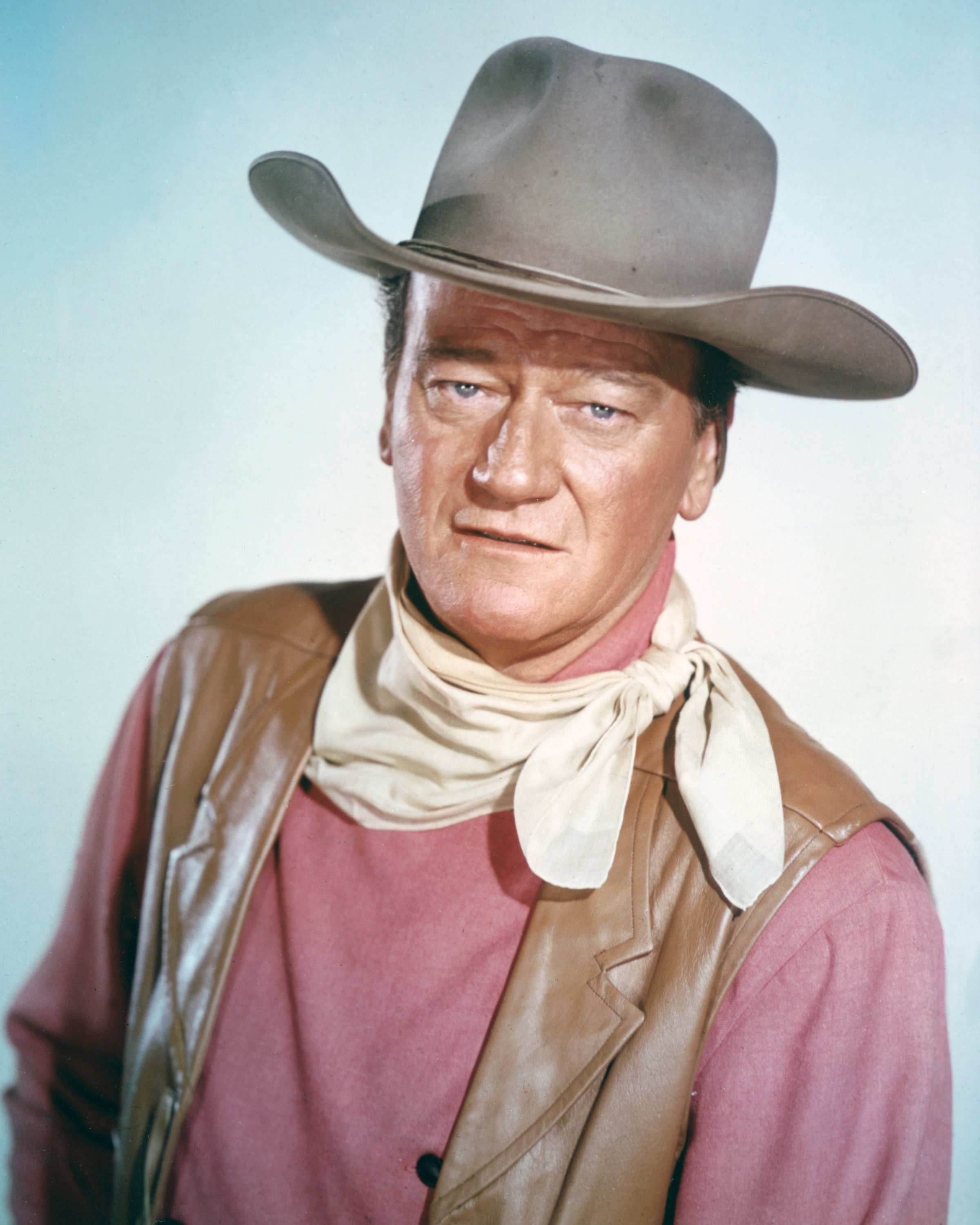 Portrait of actor John Wayne at a studio, circa 1970 | Photo: GettyImages