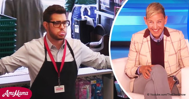 Michael Bublé Pranks People as a Cashier While Obeying Ellen's Weird Orders in a Hilarious Video