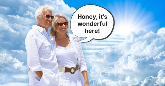 Daily Joke: After Living a Healthy Life, Married Couple in Their 100s Dies and Goes to Heaven