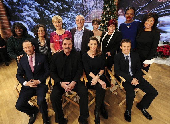 "The cast of CBS's ""Blue Bloods"" pays a visit to ""The Talk"" ladies 