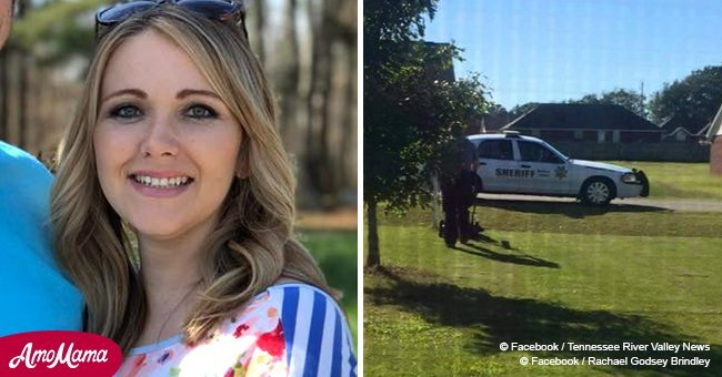 Mom of three posts heartwarming story after police officer mows her lawn