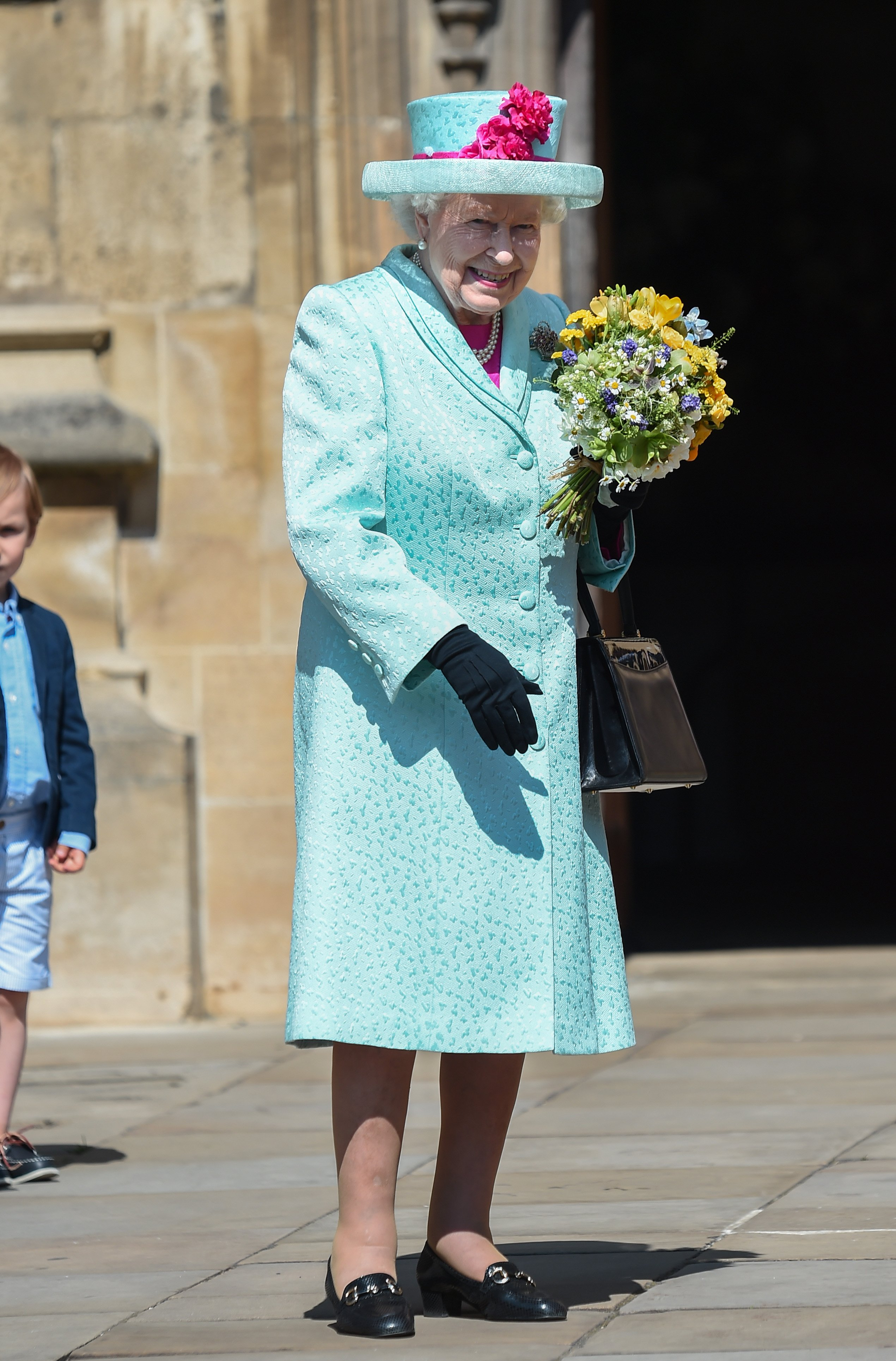 Queen Elizabeth outside St George's Chapel in Windsor Castle, England | Photo: Getty Images