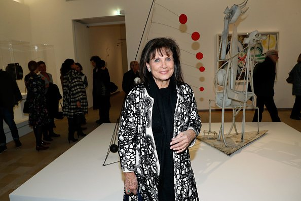 "Anne Sinclair assiste au vernissage de l'exposition ""Calder-Picasso"" au Musée national Picasso-Paris. 