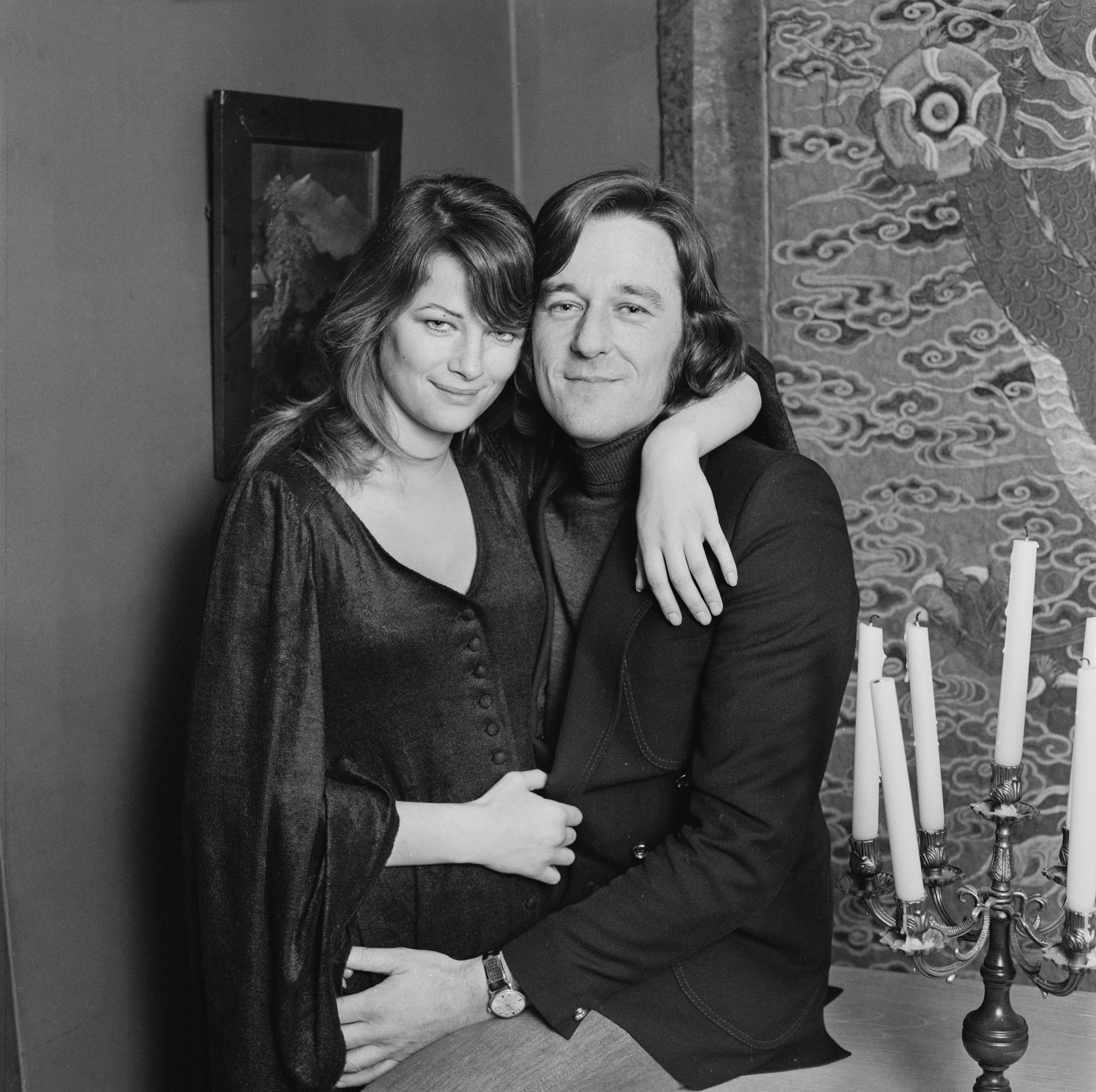 Charlotte Rampling et Bryan Southcombe en 1972. l Source : Getty Images