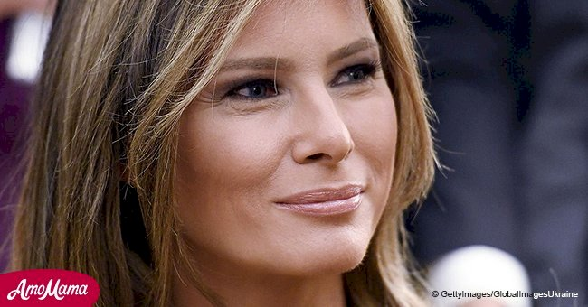 Melania Trump is unrecognizable with new blonde hair, and fans think the color is 'awesome'