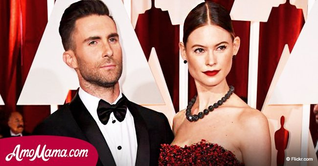 Adam Levine shares a sweet photo of his pregnant wife, and she looks like a proud mom-to-be