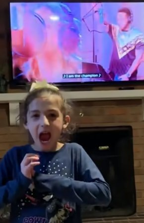 """Savannah Dahan rocking out to """"The Champion"""" by Carried Underwood feat. Ludacris. 