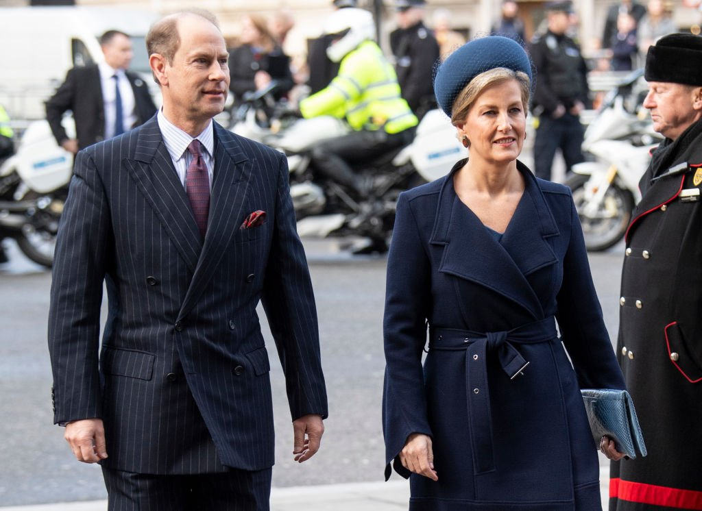 Sophie, Countess of Wessex (R) and Prince Edward, Earl of Wessex attend a Service of Thanksgiving for the life and work of Sir Donald Gosling at Westminster Abbey on December 11, 2019 | Photo: Getty Images