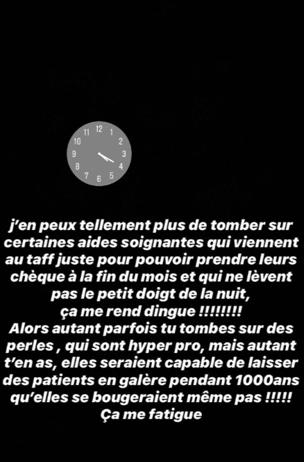 Story Instagram d'Inès. | Photo : Instagram Inès