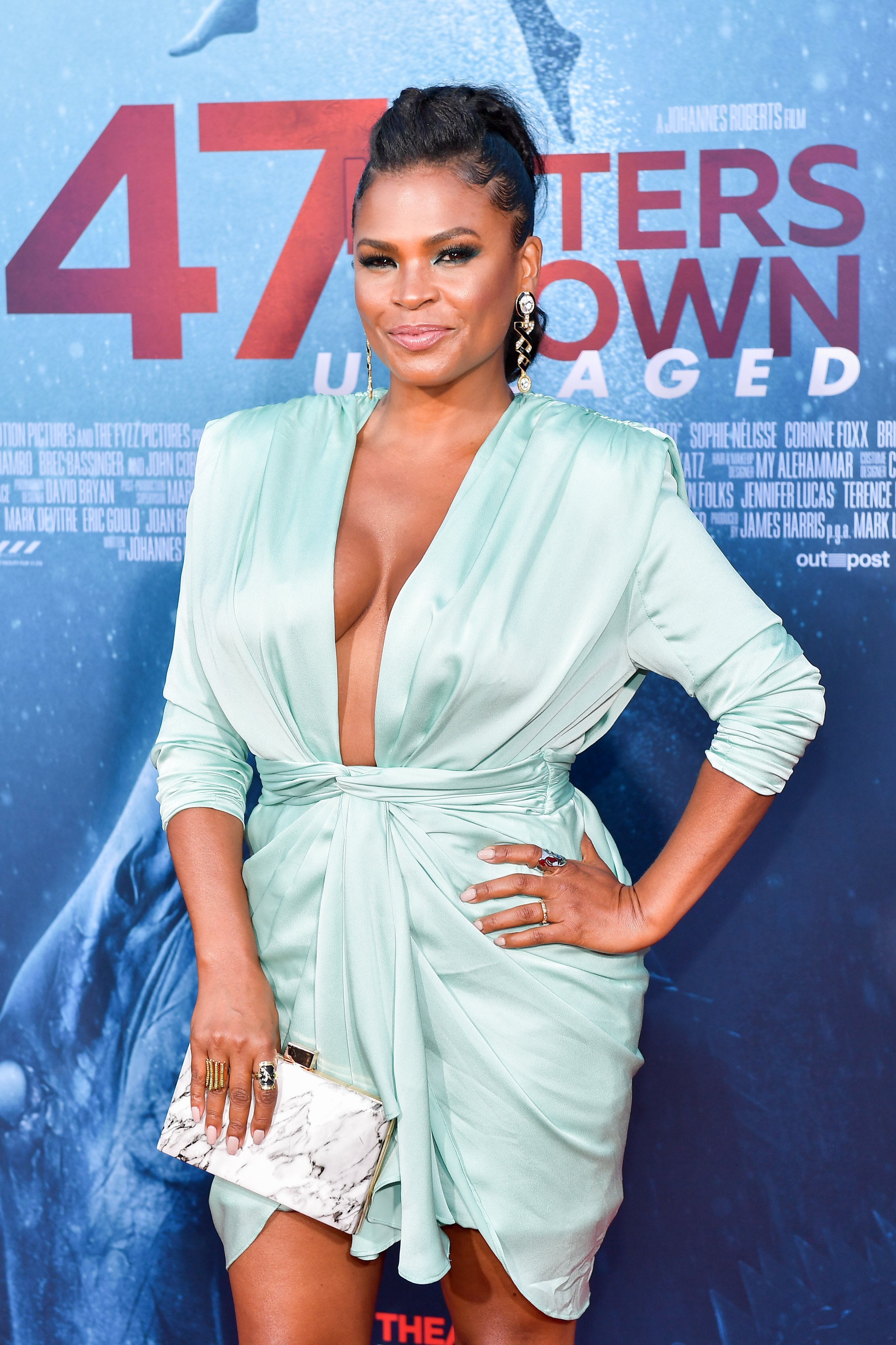 """Nia Long at the LA Premiere of """"47 Meters Down Uncaged"""" on August 13, 2019. 