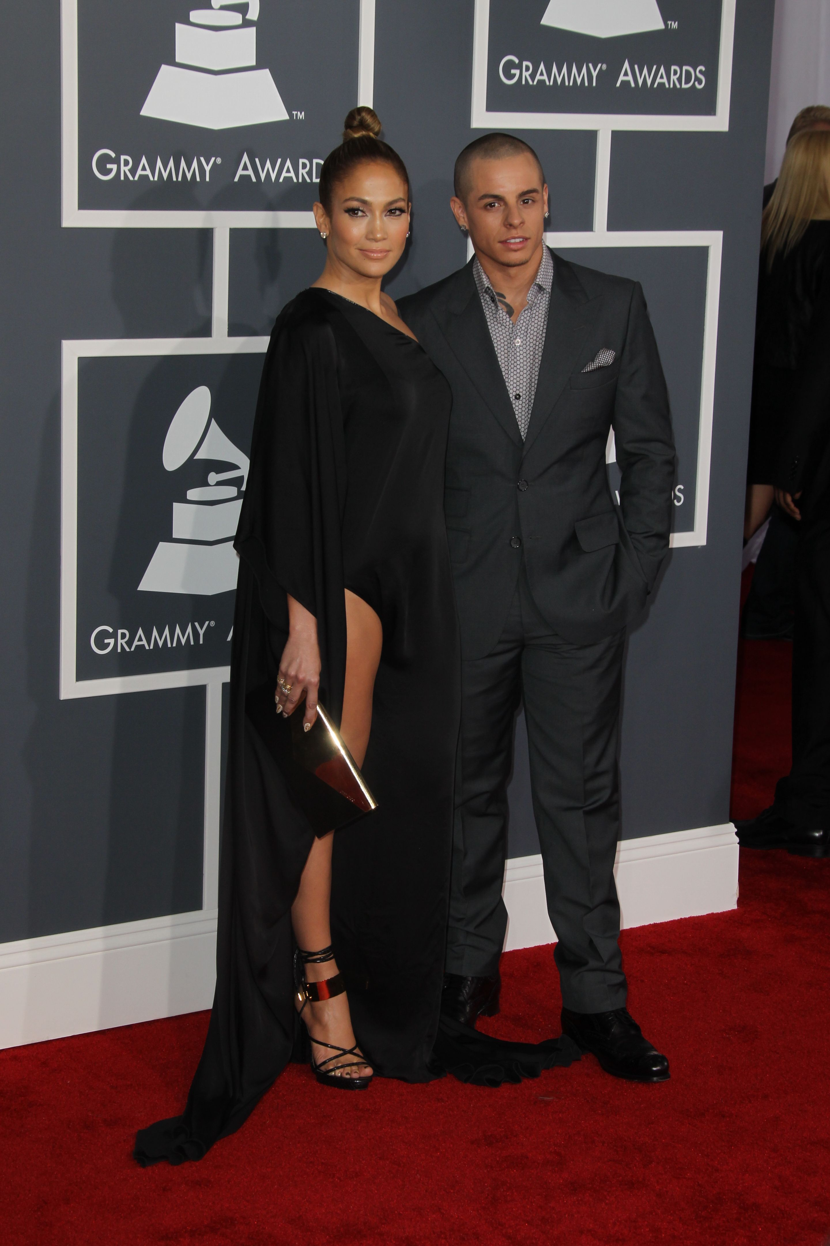 Jennifer Lopez and Casper Smart at the Grammy Awards | Source: Gettty Images
