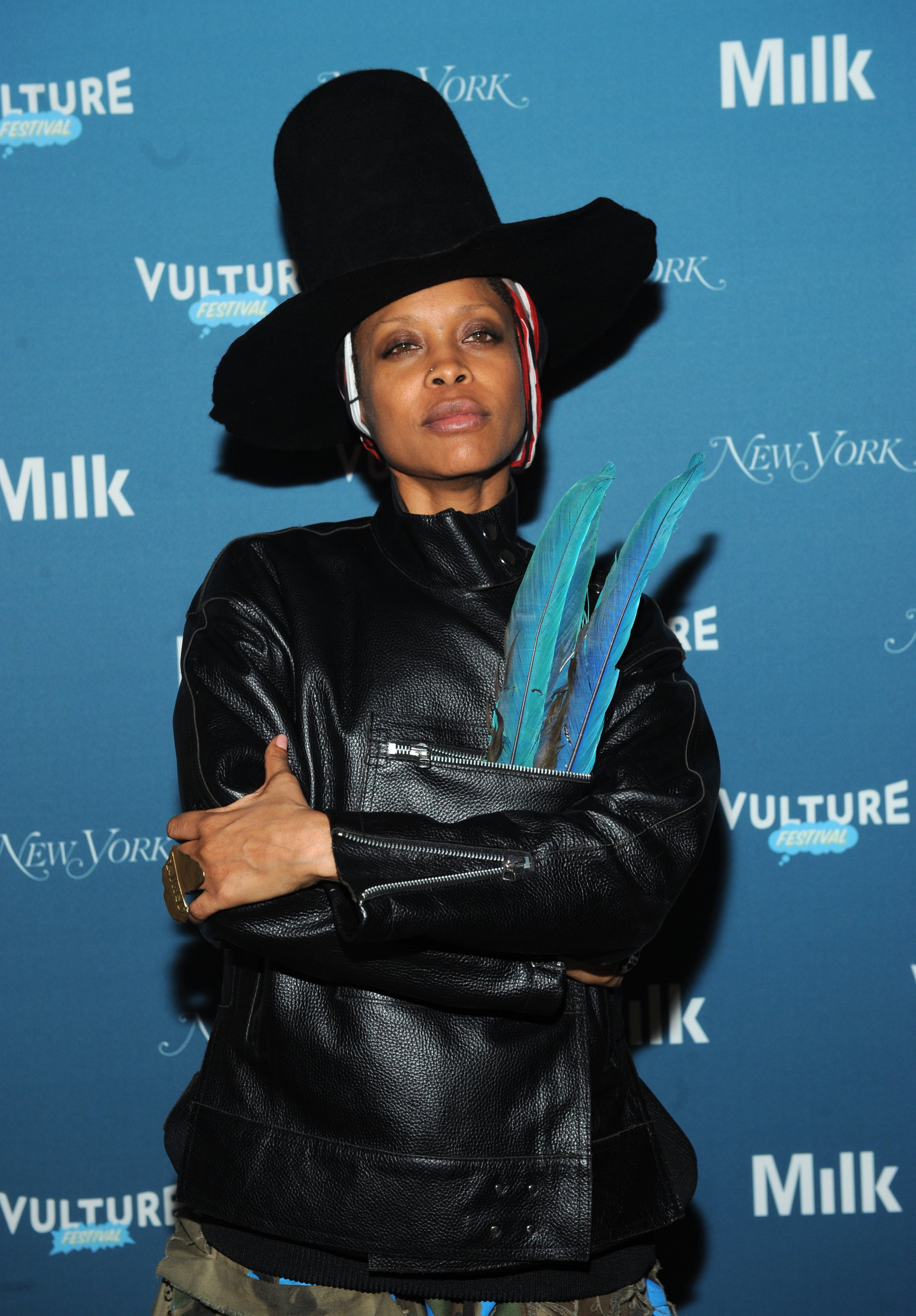 Erykah Badu at the Vulture Festival opening night party in New York City, 2014   Source: Getty Images