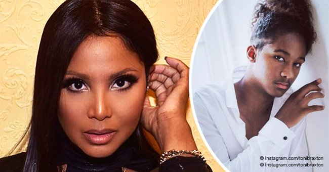 Toni Braxton's son Diezel looks all grown up in photo with mom and Birdman