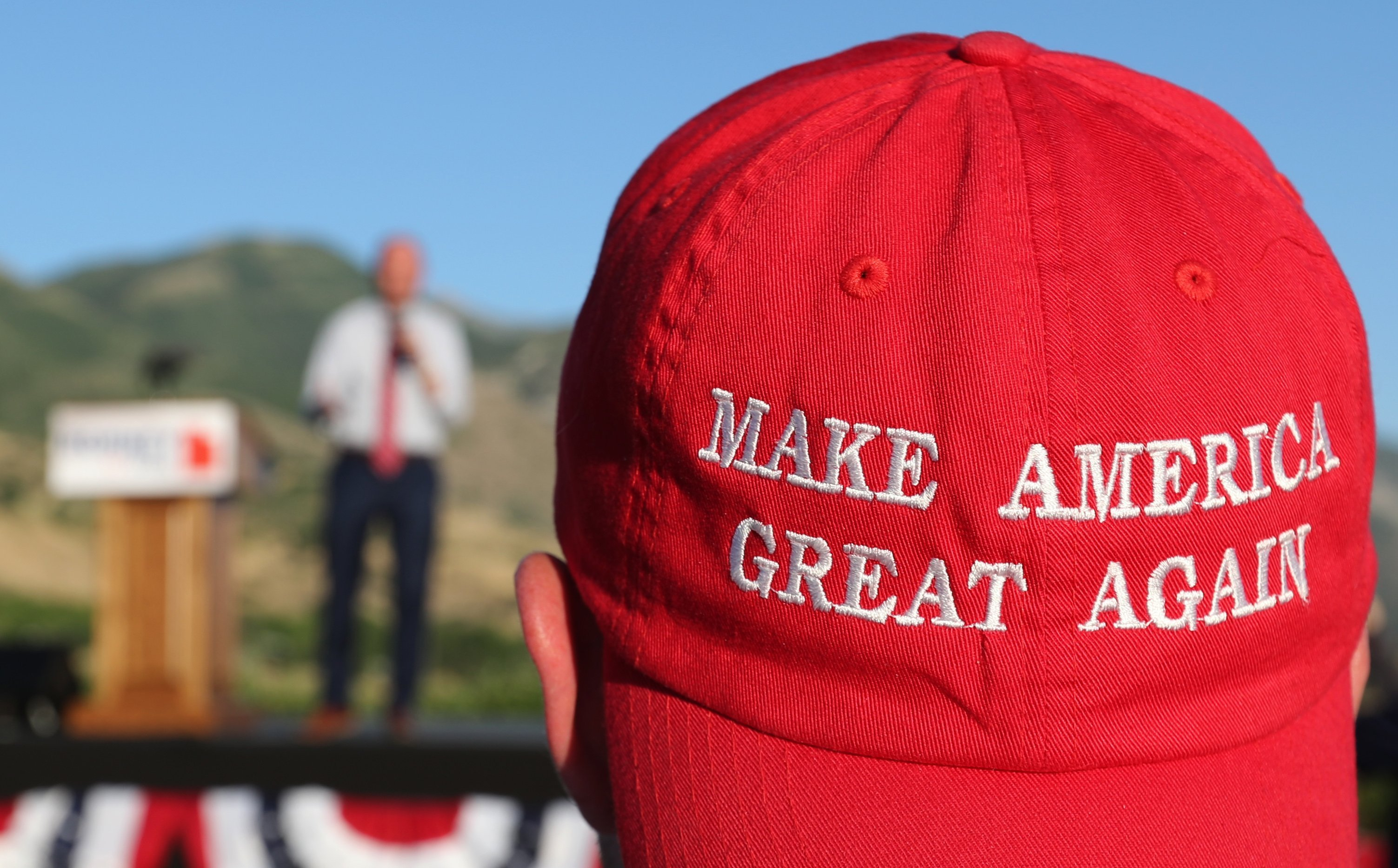 Trump supporter wearing a MAGA hat - Getty Images