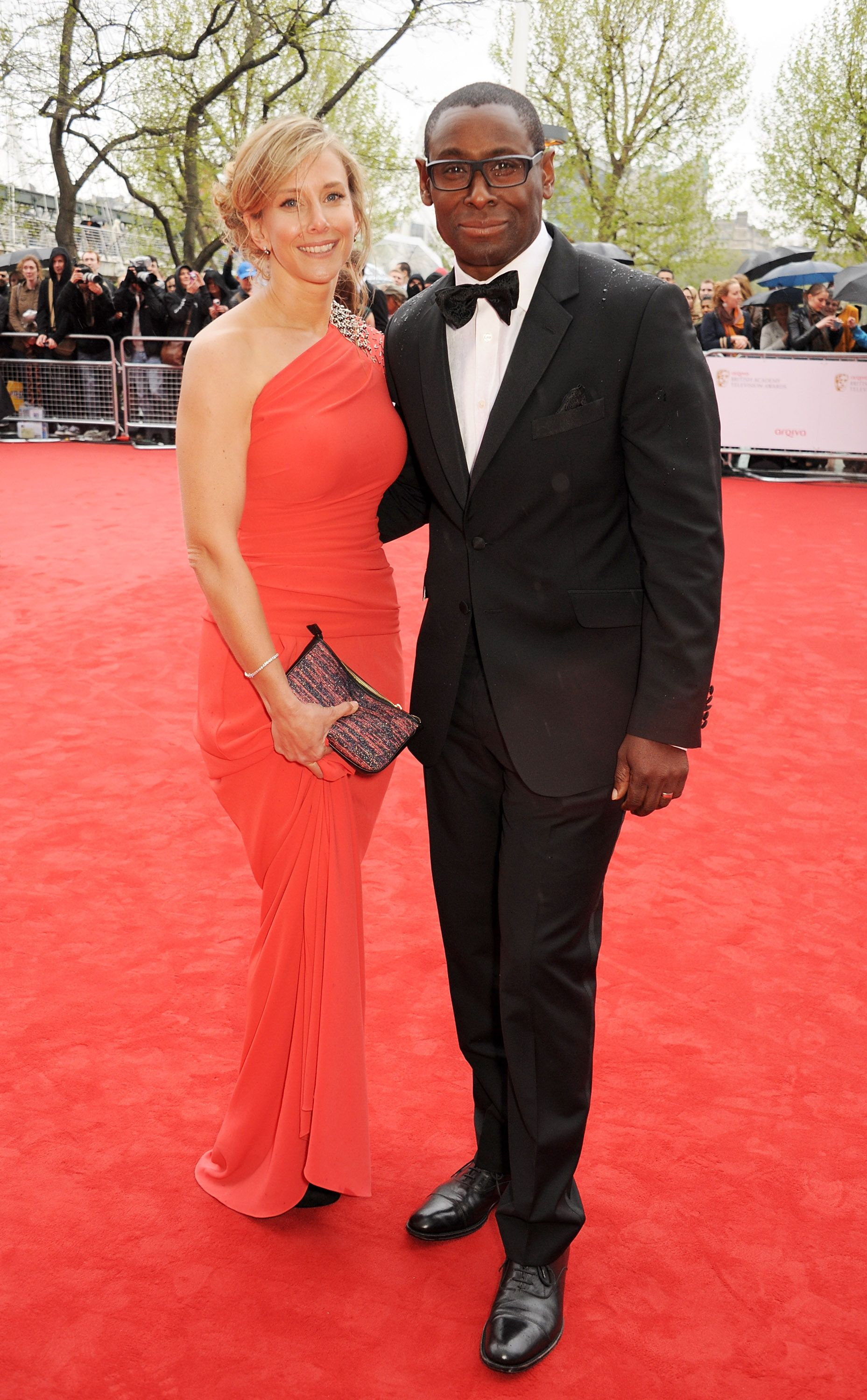 David Harewood and wife Kirsty Hands at the Arqiva British Academy Television Awards 2013 at the Royal Festival Hall on May 12, 2013 | Photo: Getty Images