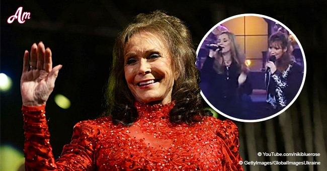 Loretta Lynn's look-alike daughters follow her footsteps by singing a song with powerful voices