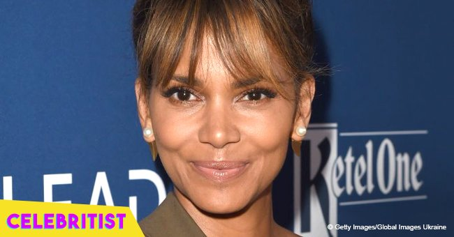 Halle Berry flaunts enviable curves in sheer white top and black underwear