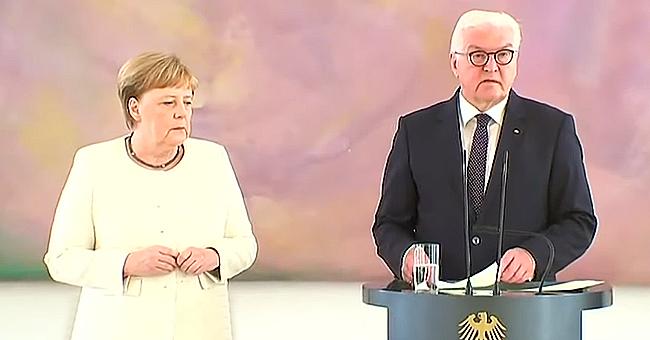 Angela Merkel Seen Shaking Again as She Meets the German President