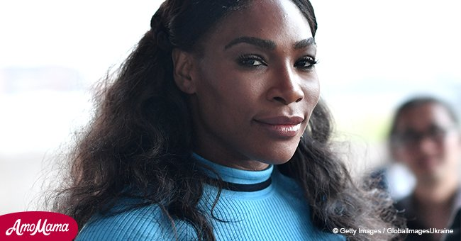New mom Serena Williams shares stunning photo of herself in tight black dress
