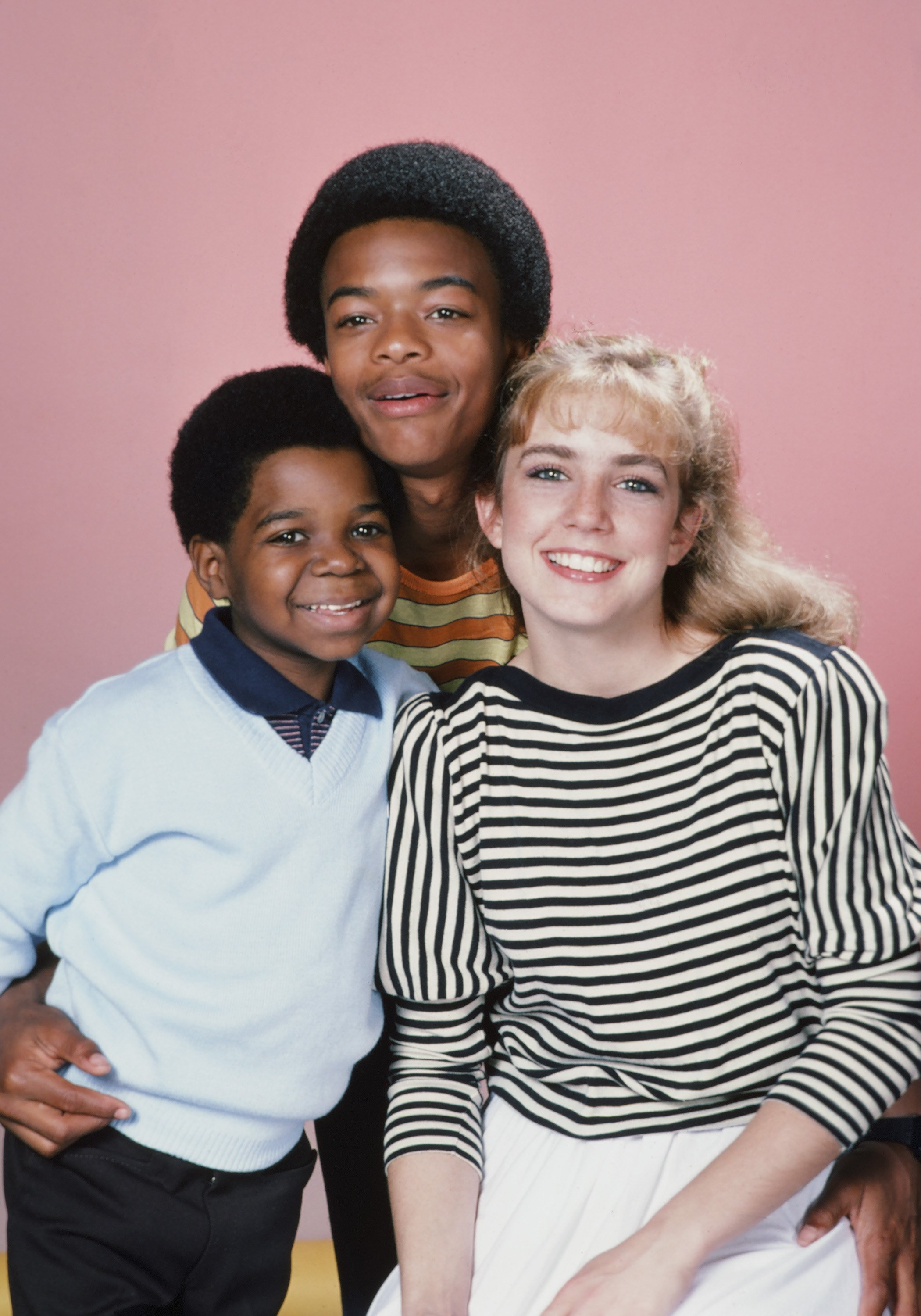 """Gary Coleman as Arnold Jackson, Todd Bridges as Willis Jackson, and Dana Plato as Kimberly Drummond during """"Diff'rent Strokes"""" Season 5. I Image: Getty Images."""