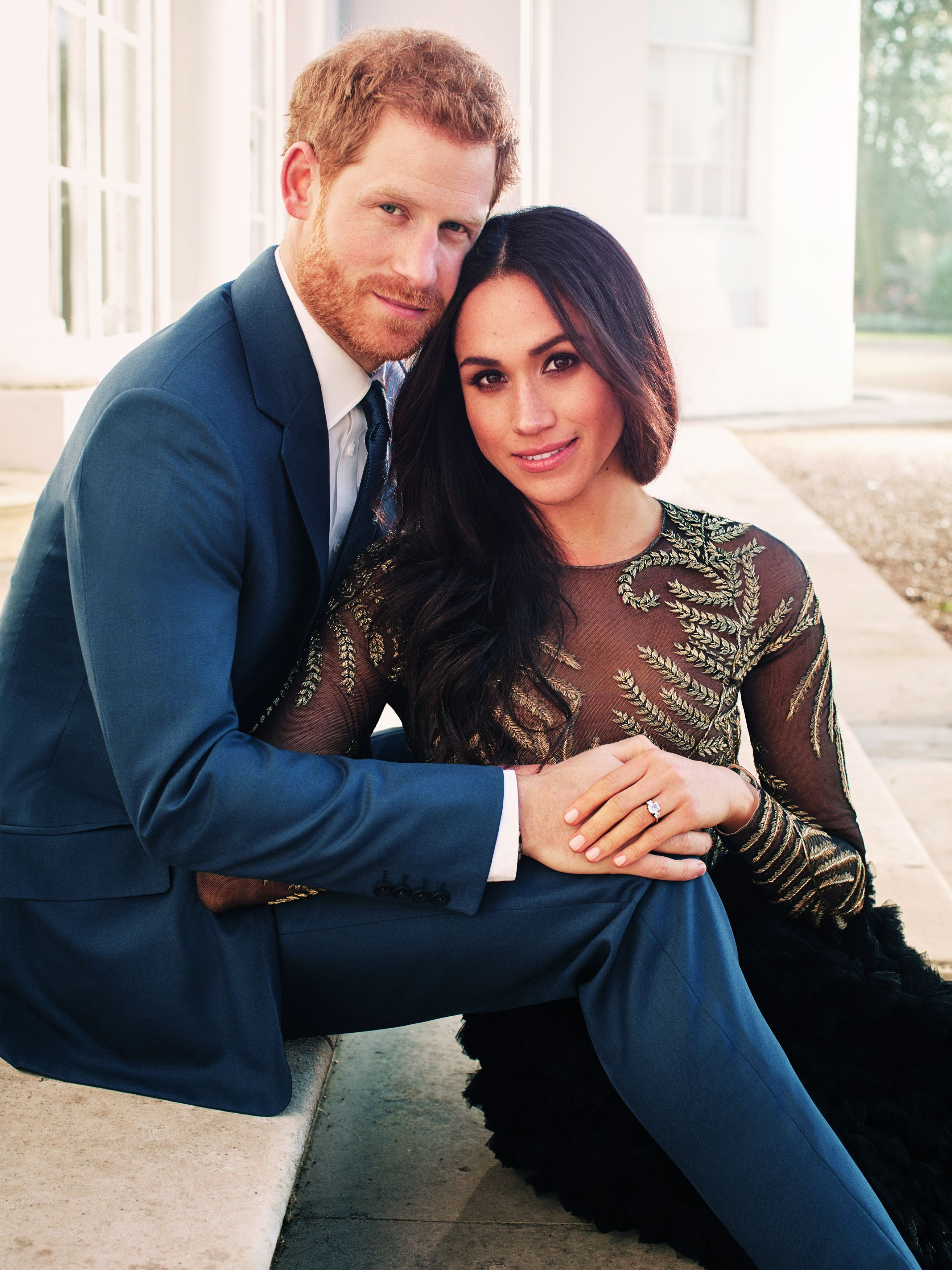 Prince Harry and eghan Markle's official engagement photo November 2017 | Source: Getty Images
