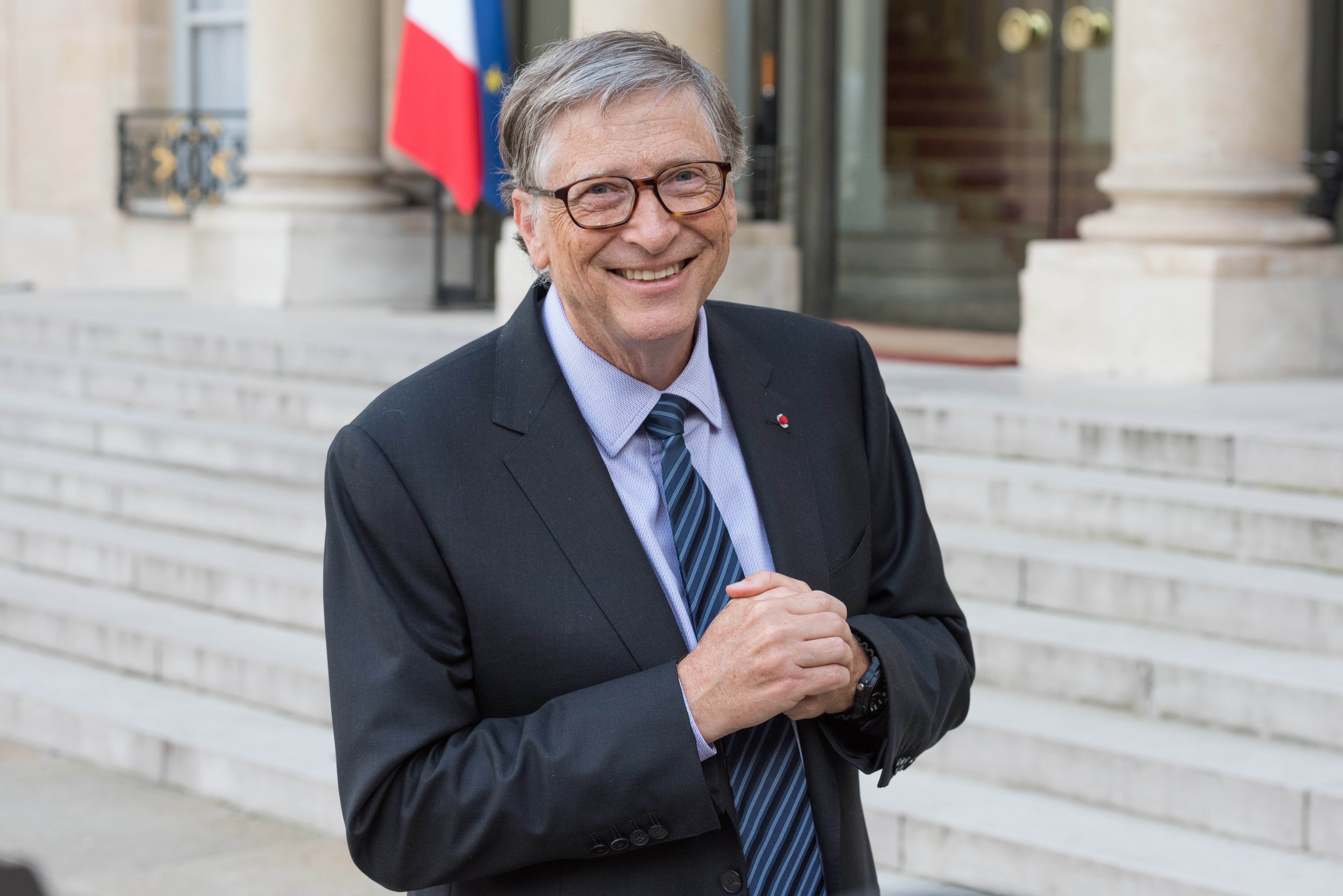 Bill Gates at the Elysee Palace in April 16, 2018, Paris, France | Photo: Shutterstock