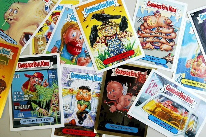 """Garbage Pail Kids"" cards I Image: Getty Images"