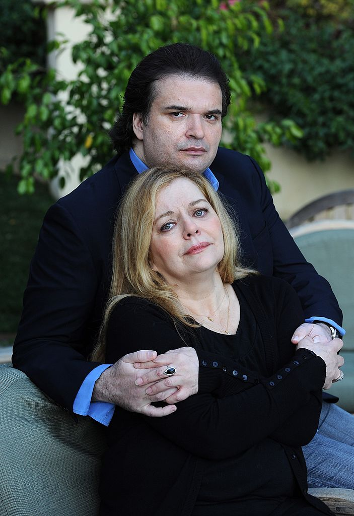 Simon Monjack and Sharon Murphy during a photo shoot on January 13, 2010 in Hollywood   Photo: Getty Images