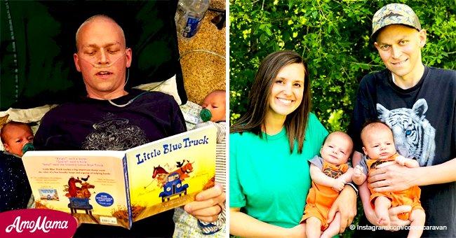 Hombre se aferró a la vida durante meses para poder abrazar a sus dos hijos por primera vez