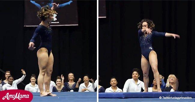 Gimnasta de UCLA asombra a jueces con impecable rutina en el suelo y obtiene su 10 perfecto