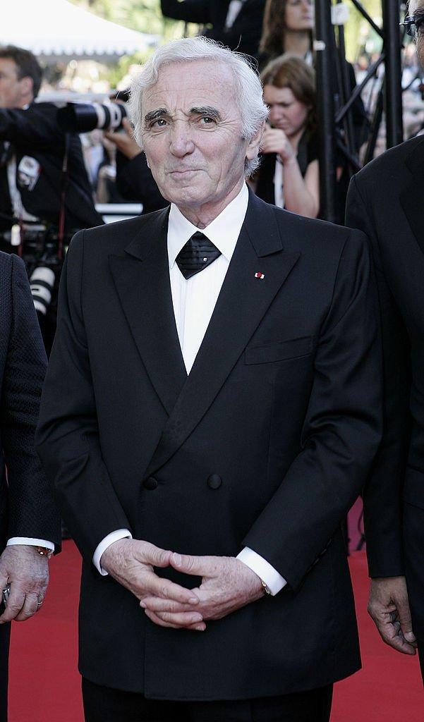 Charles Aznavour au Festival de Cannes le 18 mai 2005. l Source : Getty Images