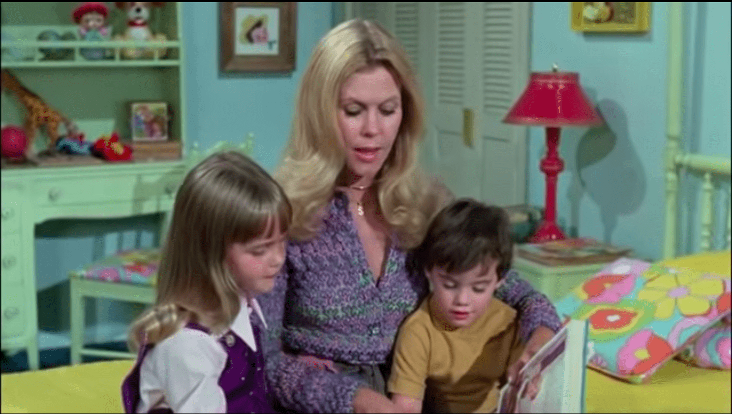 """Screenshot of """"Bewitched"""" episode from April 26, 2021. 