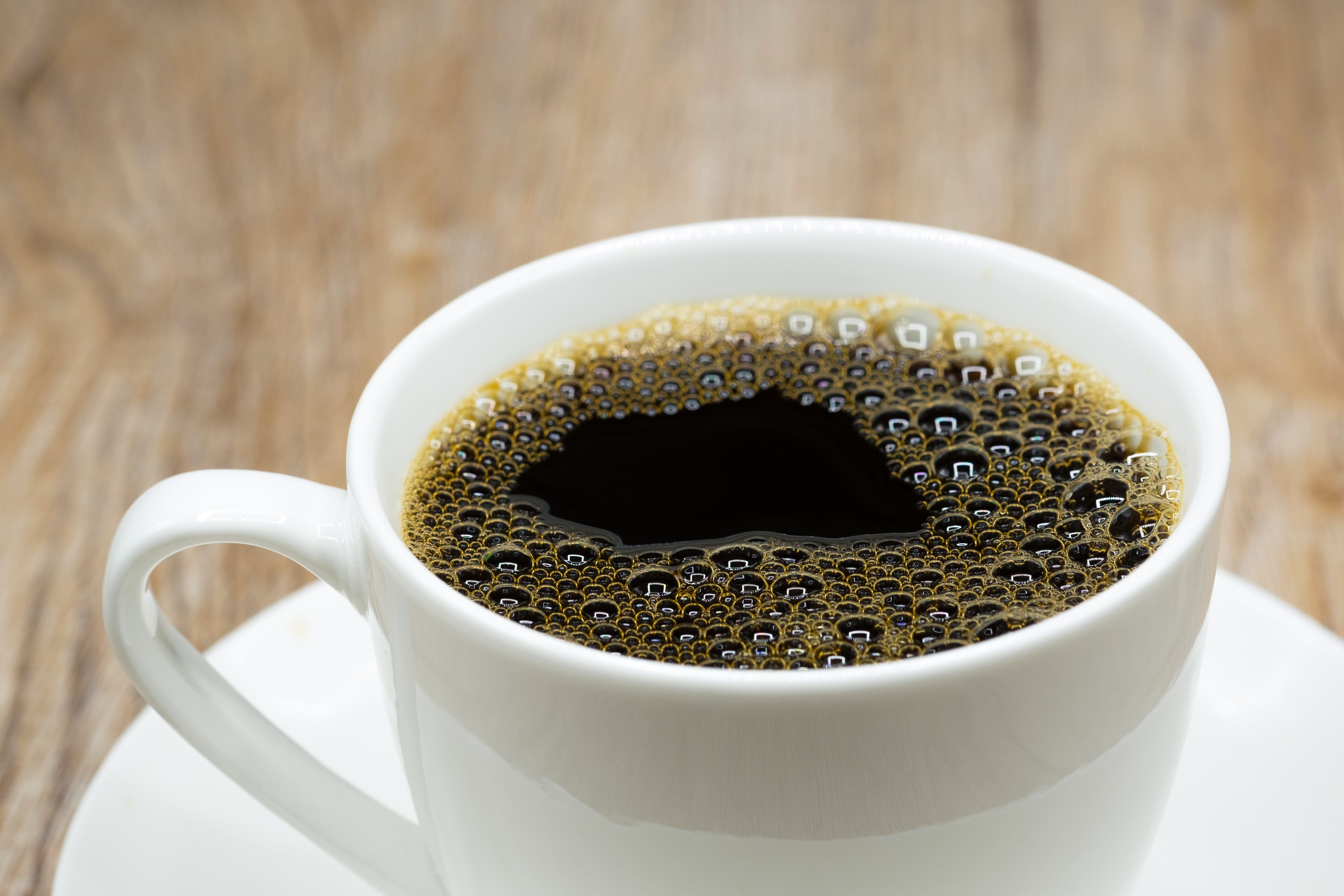 A hot cup of black coffee. | Source: Shutterstock
