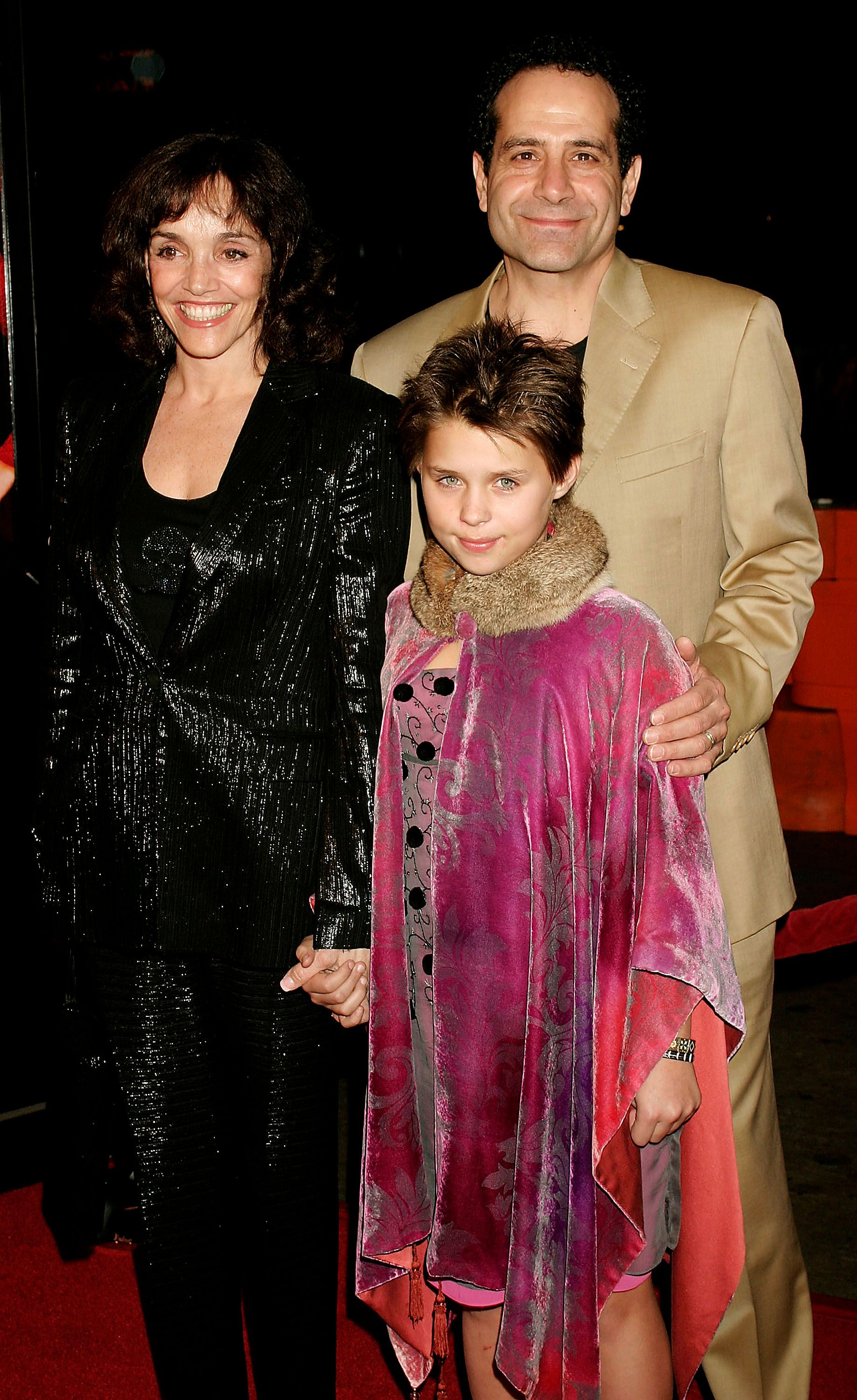 "Brooke Adams, Tony Shalhoub and their daughter Sophie at the premiere of ""Against the Ropes"" in 2004 in Hollywood, California 